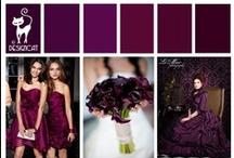 Wedding - Purple - Plum  / Deep red purples,