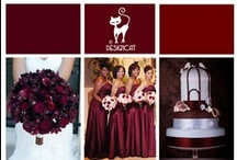 Wedding - Red Burgundy - Marsala - Pantone colour 2015 / Pantone colour of the year 2015 - Marsala