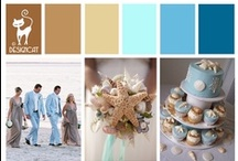 Wedding - Beach theme / Sand & sea colours for a beautiful Beach themed Wedding - Even if your stuck indoors