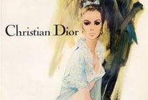 Christian Dior / I have another love and that is for Dior.  Christian Dior was a french fashion designer who went on to be the founder of one of the worlds largest fashion houses also called Christian Dior. He was the master of creating shapes and silhouettes that are still the essence of Dior.  Please share with me the lavish designs of Dior!  You may pin vintage as well:)