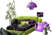 Interior - Purple & Green