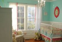 Haddie's Room / Haddie's room: soft, demure, so sweet, but giggly and playful - just like Had. Pale pink and royal/true blue OR aqua and bright coral (slightly folk).  / by H Lally