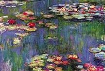 CLAUDE MONET / Everything about Claude Monet is very important for me. I love all his works and I´ll always be great supporter of his talent. Je pense que Monet  reste le meilleur peintre de l´impressionisme . Moi, je l´adore