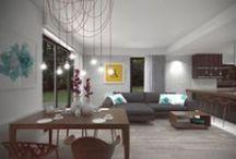 Wnętrze domu jednorodzinnego w Nowosolnej. / Projekt wnętrza domu jednorodzinnego w Nowosolnej. Najnowszy projekt mieliśmy przyjemność wykonywać w Nowosolnej pod Łodzią. Podjęliśmy się projektu wnętrza mieszkania w zabudowie szeregowej.