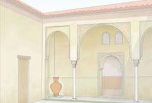 Al-Andalus. Viviendas / Dibujos, ilustraciones, fotografías y cualquier tipo de representación gráfica de viviendas y partes de ellas de época andalusí. Al-Andalus. Drawings , illustrations, photographs and any type of graphical representation of houses and parts of them Andalusian period.