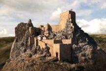 Al-Andalus. Fortificaciones / Castillos, atalayas, hisn, recintos amurallados, albacares de época andalusí. Al-Andalus Castles, watchtowers, hisn, walled enclosures, albacares of Andalusian period.