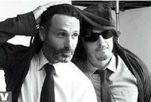 "leedus / rickyl / Bromance of Norman Reedus and Andrew Lincoln, also their characters Daryl Dixon and Rick Grimes from ""The Walking Dead""."