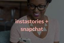 InstaStories + Snapchat / Navigate how to use Instastories + Snapchat for your business with these useful tips. It's not just for personal use! Brands can greatly benefit from these features.