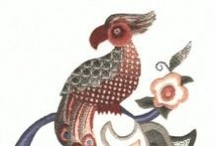 Jacobean Embroidery / Traditional and Modern Jacobean Hand Embroidery Designs. Jacobean is surface embroidery stitches worked in traditional designs from the Jacobean Era.