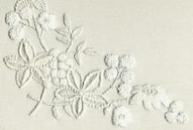 White Work / Techniques of surface embroidery white work techniques: Carrickmacross Lace, Fine White Work and Mountmellick.