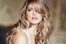 Doutzen Kroes / Doutzen Kroes (born 23 January 1985) is a Dutch model and actress, who is a Victoria's Secret Angel. She started working for the brand in 2004 and became an Angel in 2008. She is on contract with L'Oréal. In 2012 she came in fifth on the Forbes top-earning models list, estimated to have earned $6.9 million in one year. Married to Duth DJ Sunnery James. They have a son together named Phyllon.