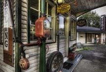Garages / signs / and more........ / Old gas stations, tin signs,...and more / by Steve Osga