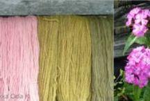 Kasvivärjäys * Natural dyeing / Väripatojen porinaa, lankojen värjäystä kasveilla ja muilla väreillä sekä värjätyistä langoista neulottuja tuotteita.