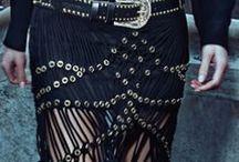 In my style / fashion, black, cowboy, boho, crochet, fringed, leather, embellished, floral, metallic