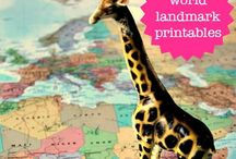 Maps & stamps printables / Maps & stamps printables for crafting