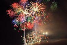 A burst of color ( fireworks)