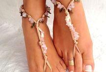 Barefoot sandlas