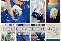 ♥♥♥Blue Wedding Inspiration / The color Blue for weddings says Royal and Luxurious!