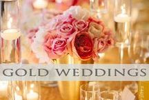 ♥♥♥Gold Wedding Inspiration / The color Gold for weddings says Luxury at it's finest! We pin the latest trends to keep you in the loop!