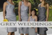♥♥♥Grey Wedding Inspiration / Great ideas for wedding style using the color grey and what it goes best with! We pin the latest trends to keep you in the loop!