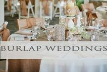 ♥♥♥Burlap Rustic Weddings / Burlap accented wedding decor and  rustic ideas! We pin the latest trends to keep you in the loop!