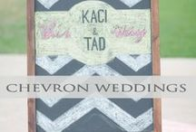 ♥♥♥Chevron Weddings / Add fun to your wedding theme with the Chevron Print! We pin the latest trends to keep you in the loop!