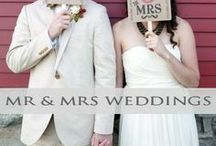 ♥♥♥Mr & Mrs Wedding Inspiration / Get ready to become Mr. & Mrs. check out these great ideas for the big wedding day! We pin the latest trends to keep you in the loop!