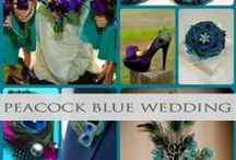 Peacock Blue Wedding / Here you will find gorgeous peacock blue teal tones inspiration and ideas!
