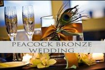 Peacock Bronze Weddings / Rich and luxurious peacock bronze gold tones inspiration and ideas! We pin the latest trends to keep you in the loop!