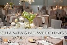 ♥♥♥Champagne Wedding Inspiration / Soft, romantic & truly elegant, wow your guests with this amazingly rich color!