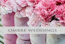 ♥♥♥Ombre Wedding Inspiration / Can't decide on just one color? Ombre is the perfect method to blend your color theme! We pin the latest trends to keep you in the loop!