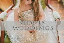 ♥♥♥Kids in Weddings | Flower Girl + Ring bearer / Cute and Adorable...kids in weddings! Checkout these great pins for ideas.