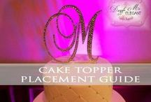 Cake Toppers | WhereTo Place It / Top, middle, bottom, mix it up? Options are endless! Here are some different placement ideas to do on your cake with your custom cake topper. We pin the latest trends to keep you in the loop!