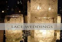 ♥♥♥Lace Weddings / From vintage to modern, lace is always timeless and elegant. We pin the latest trends to keep you in the loop!
