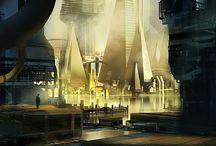 Concept Art / futuristic environment