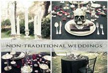Non-Traditional Weddings Steampunk Goth Dia de los Muertos / Here are ideas for Goth, Steampunk, Dia de los Muertos and other non-traditional weddings.