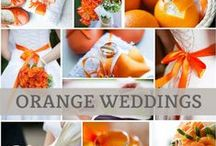 Orange Weddings / Vibrant and energetic, orange is a great accent color for weddings. We pin the latest trends to keep you in the loop!