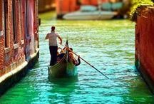 For the love of Gondolas / Venice, one of Europe's most beautiful places. With a lot of water.