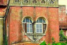 DOORS & WINDOWS / #Doors, #Windows, #Decorative, #Unique, #Amazing ~ Decorative! Nice!