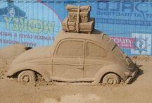 Art ~ SAND / #Art, #SandArt, #Sculptures. Amazing Sand Arts