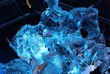 Art ~ ICE & SNOW / #Art, #IceArt, #SnowArt. Amazing Snow and Ice Work