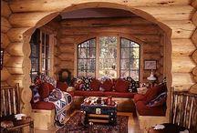 LOG CABINS / #LogCabins. #Rustic. Soo cozy..