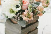 """Flowers / """"I must have flowers, always and always""""  Flowers add the perfect accent color or texture to any wedding, not to mention leaving the place smelling wonderful!"""