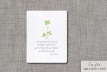 St. Patrick's Day Greeting Cards / A couple new St. Patrick's Day card designs with traditional Irish Blessings :: Watercolor painted & crafted by hand