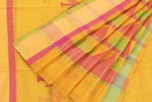 Charming Chanderis / Delicate & Gossamer Silk Cotton Chanderi Saris & Salwar Suits - Exclusively from Avishya
