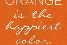 Colors ~ ORANGE / All About Orange. My favorite color!