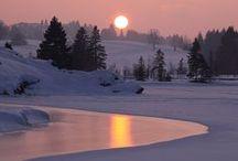 Зима. Winter / Когда идёт счастливый снег, Останови свой вечный бег. Пусть белый снег тебя коснётся... (Л. Миллер)