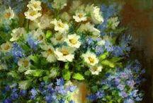 Цветы в живописи. Flowers art