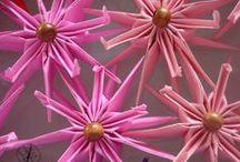 De olho no Câncer - Mês outubro Rosa 2014 / Origamis Rosas