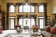 Текстильный дизайн. Окна большой высоты.
